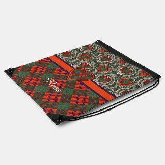 Ross clan Plaid Scottish tartan Drawstring Backpack