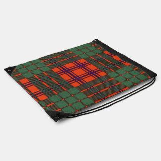 Ross clan Plaid Scottish tartan Drawstring Bag