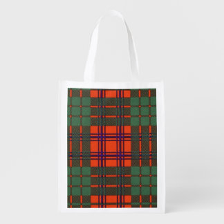 Ross clan Plaid Scottish tartan Reusable Grocery Bag