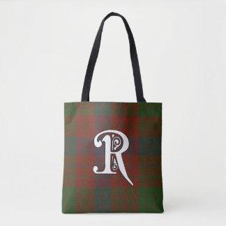 Ross Clan Tartan Monogram Tote Bag
