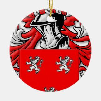 Ross Coat of Arms Round Ceramic Decoration