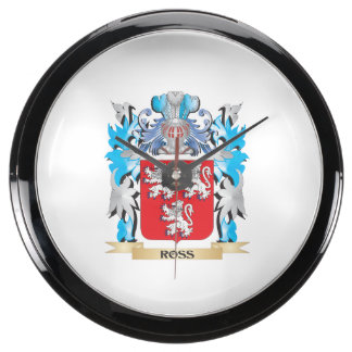 Ross Coat of Arms - Family Crest Fish Tank Clock