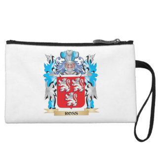 Ross Coat of Arms - Family Crest Wristlet Clutches