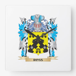 Ross- Coat of Arms - Family Crest Square Wallclocks