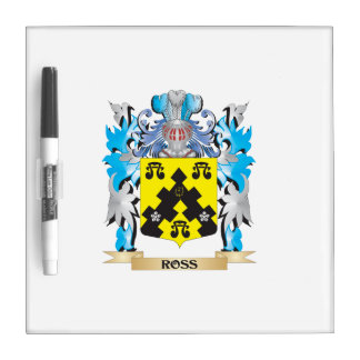 Ross- Coat of Arms - Family Crest Dry Erase Whiteboards