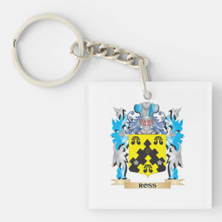 Ross- Coat of Arms - Family Crest Acrylic Key Chain