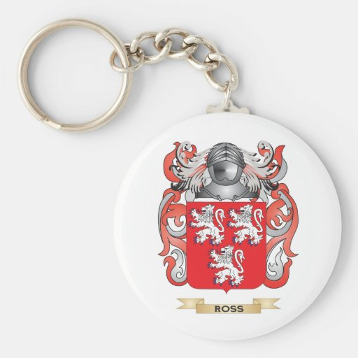 Ross Coat of Arms (Family Crest) Keychain