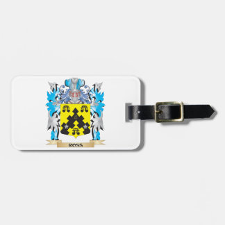 Ross- Coat of Arms - Family Crest Bag Tag
