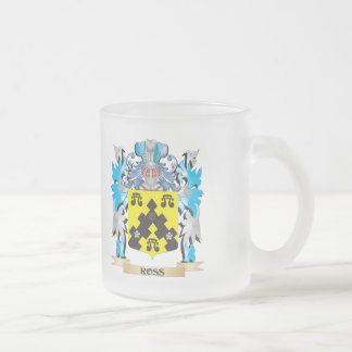 Ross- Coat of Arms - Family Crest 10 Oz Frosted Glass Coffee Mug