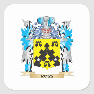 Ross- Coat of Arms - Family Crest Square Stickers
