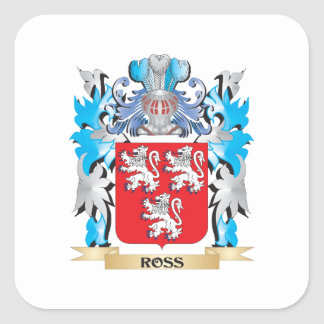 Ross Coat of Arms - Family Crest Square Sticker
