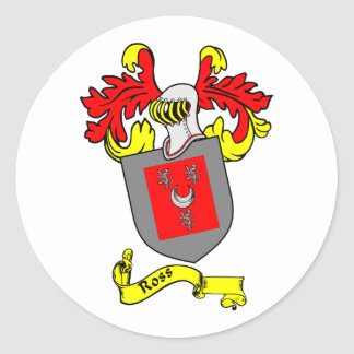 ROSS Coat of Arms Round Sticker