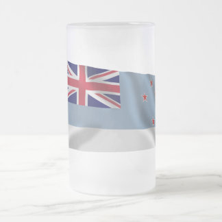 Ross Dependency Waving Flag Frosted Glass Mug