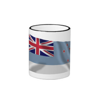 Ross Dependency Waving Flag Ringer Mug