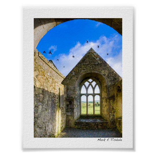 Ross Errilly Friary - Irish Ruins - Mini Poster