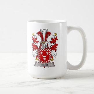 Ross Family Crest Basic White Mug