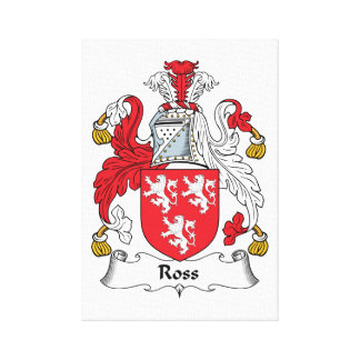 Ross Family Crest Stretched Canvas Prints