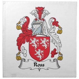 Ross Family Crest Printed Napkin