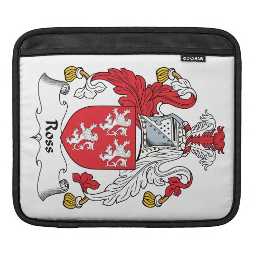 Ross Family Crest iPad Sleeves