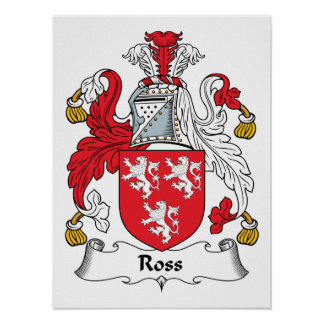 Ross Family Crest Posters