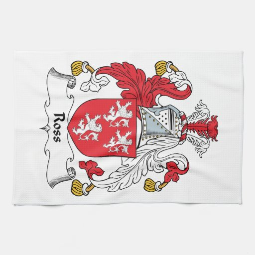 Ross Family Crest Hand Towel