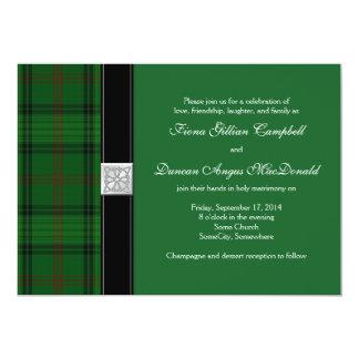 Ross Hunting Tartan Celtic Wedding Invitation