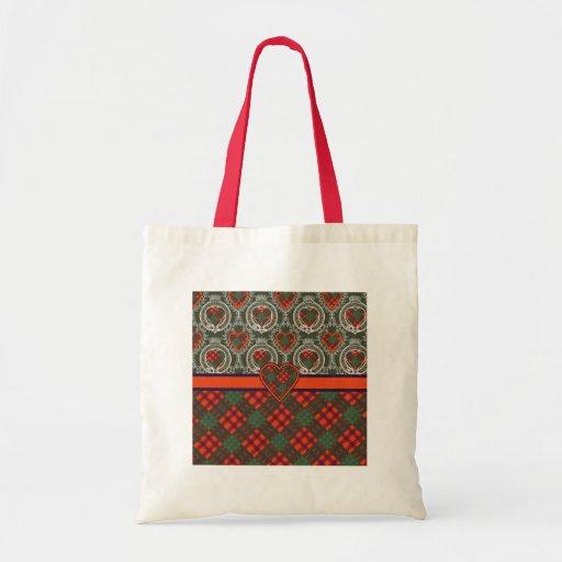 Ross Scottish Tartan Canvas Bags
