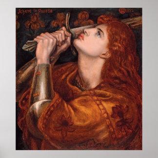 Rossetti Joan of Arc CC0762 Semi-Gloss Poster