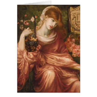 Rossetti Roman Harp Player Greeting Card