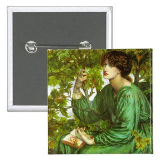 Rossetti The Day Dream Button