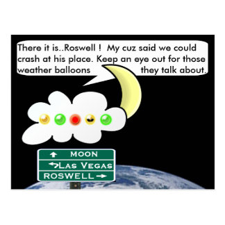 Roswell bound postcard