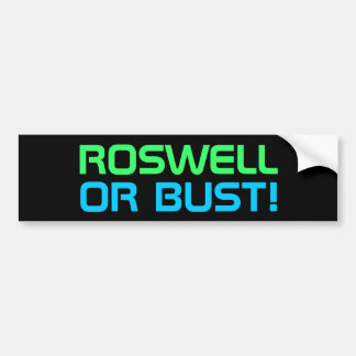 ROSWELL bumper sticker
