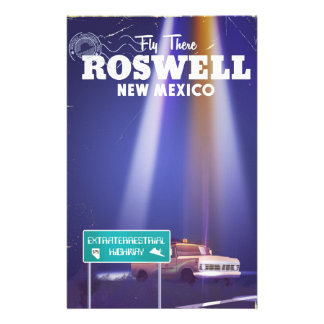 Roswell Extraterrestrial Highway travel poster Stationery