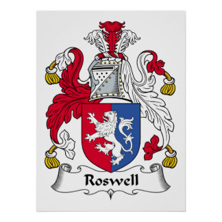 Roswell Family Crest Print