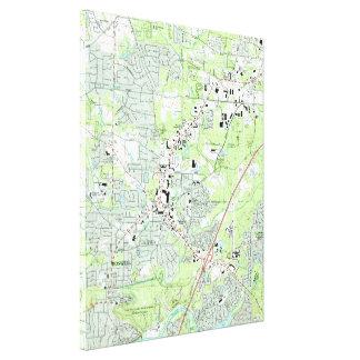 Roswell Georgia Map (1992) Canvas Print