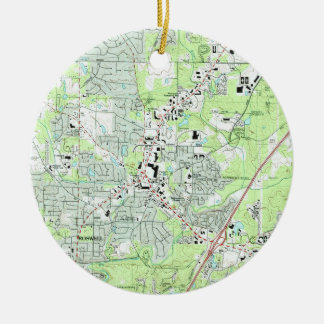 Roswell Georgia Map (1992) Christmas Ornament