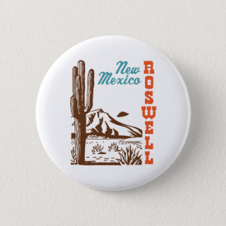 Roswell New Mexico 6 Cm Round Badge