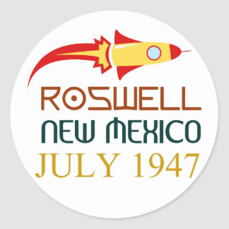 Roswell New Mexico july 1947 Classic Round Sticker