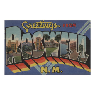 Roswell, New Mexico - Large Letter Scenes Poster