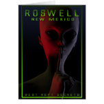 Roswell Travel Poster 2 Greeting Cards