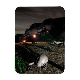 Roswell UFO Crash at night Rectangular Photo Magnet