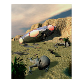 Roswell UFO Crash Poster
