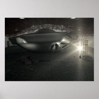 Roswell UFO Hangar Poster