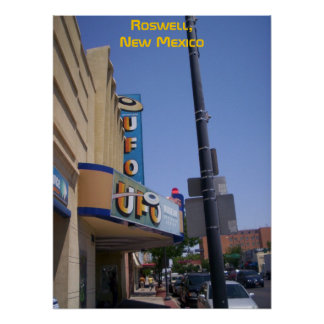 Roswell UFO Museum w words poster