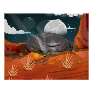 Roswell UFO Spacecraft Crash! Poster