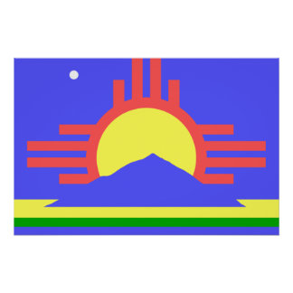 Roswell, United States flag Poster