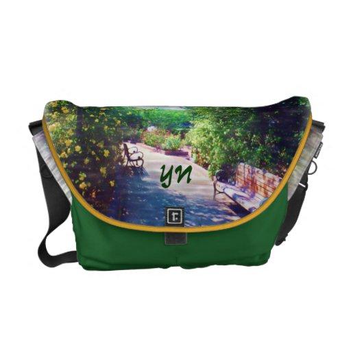 Rosy Bower Messenger Bag