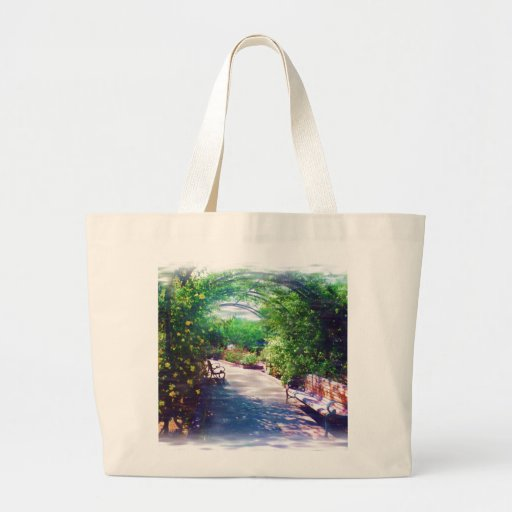 Rosy Bower tote bag