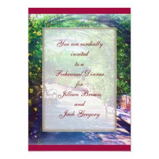 Rosy Bower WEDDING Rehearsal Dinner 13 Cm X 18 Cm Invitation Card