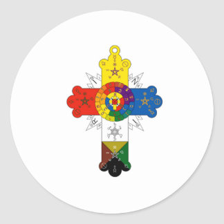 Rosy Cross Lamen Round Sticker